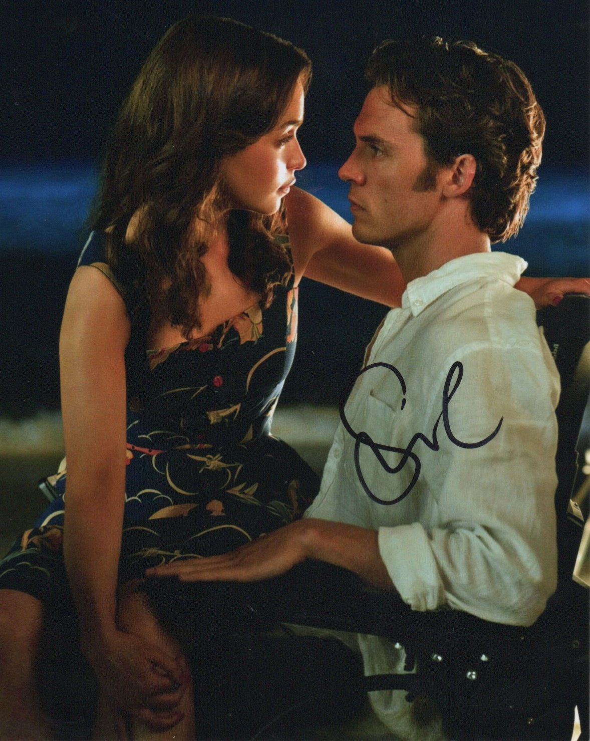 Sam Claflin Me Before You Signed Autograph 8x10 Photo #1