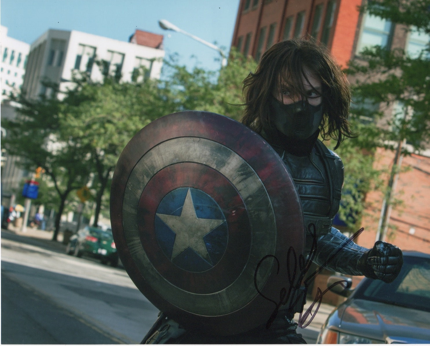 Sebastian Stan Marvel Signed Autograph 8x10 Photo #2