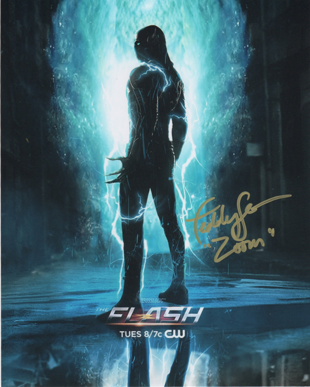 Teddy Sears The Flash Signed Autograph Zoom 8x10 Photo #3 - Outlaw Hobbies Authentic Autographs