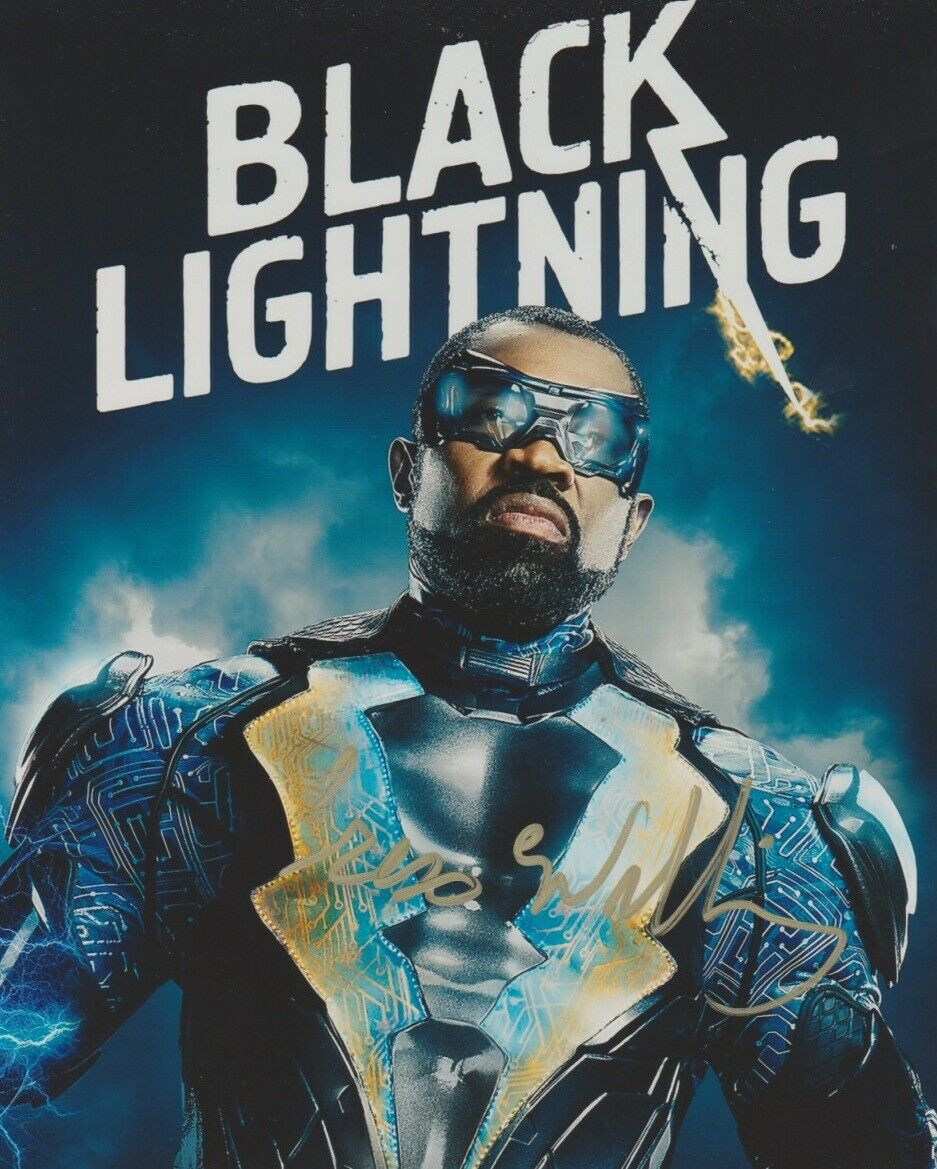 Cress Williams Black Lightning Signed Autograph 8x10 Photo Arrowverse - Outlaw Hobbies Authentic Autographs