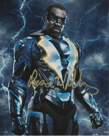 Cress Williams Black Lightning Signed Autograph 8x10 Photo Arrowverse #2 - Outlaw Hobbies Authentic Autographs