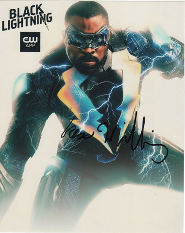 Cress Williams Black Lightning Signed Autograph 8x10 Photo Arrowverse #3 - Outlaw Hobbies Authentic Autographs