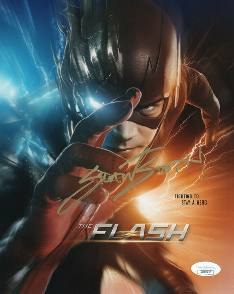 Grant Gustin The Flash Signed Autograph 8x10 Photo JSA #2 - Outlaw Hobbies Authentic Autographs