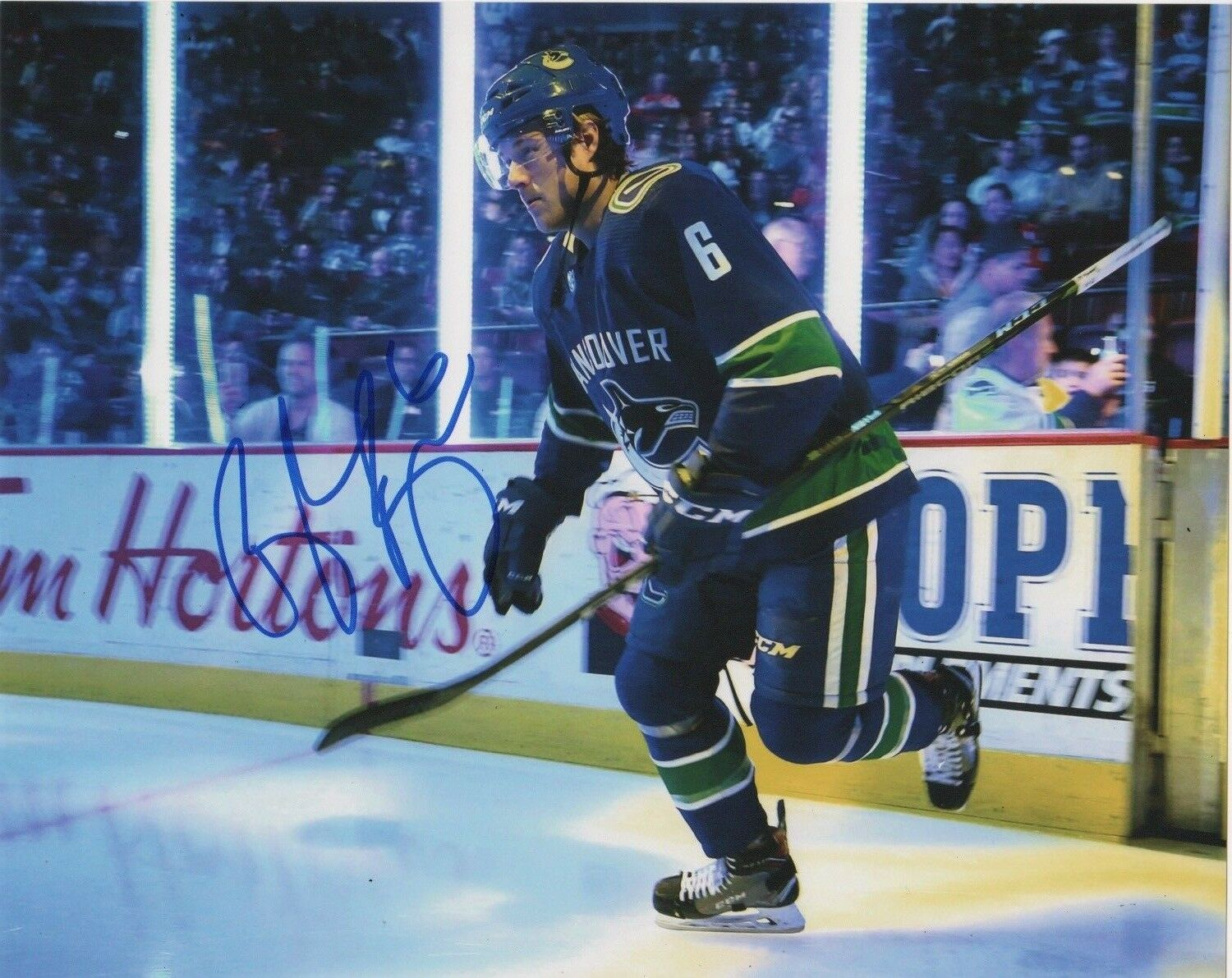 Brock Boeser Vancouver Canucks Signed Autograph 8x10 Photo #2