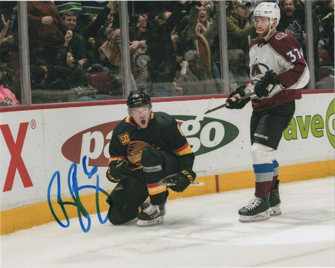 Brock Boeser Vancouver Canucks Signed Autograph 8x10 Photo #3