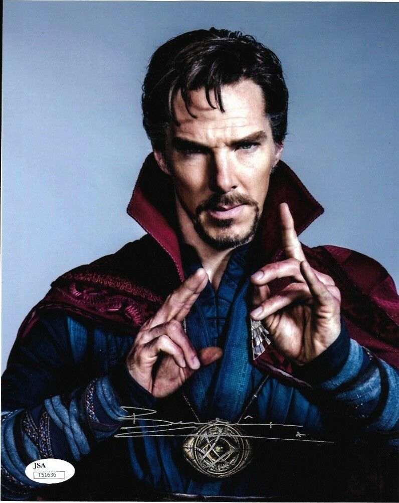 Benedict Cumberbatch Doctor Strange Autograph 8x10 Photo JSA Marvel #1