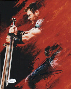 Chris Hemsworth Thor Autograph 8x10 Photo JSA Marvel #5