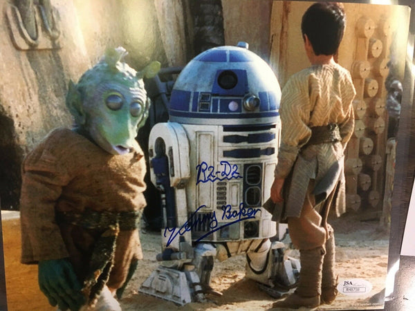 Kenny Baker Star Wars R2D2 Signed Autograph 8x10 Photo JSA
