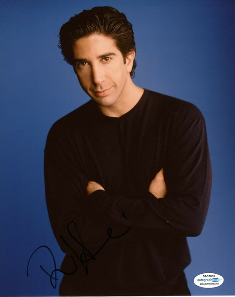 David Schwimmer Friends Signed Autograph 8x10 Photo ACOA