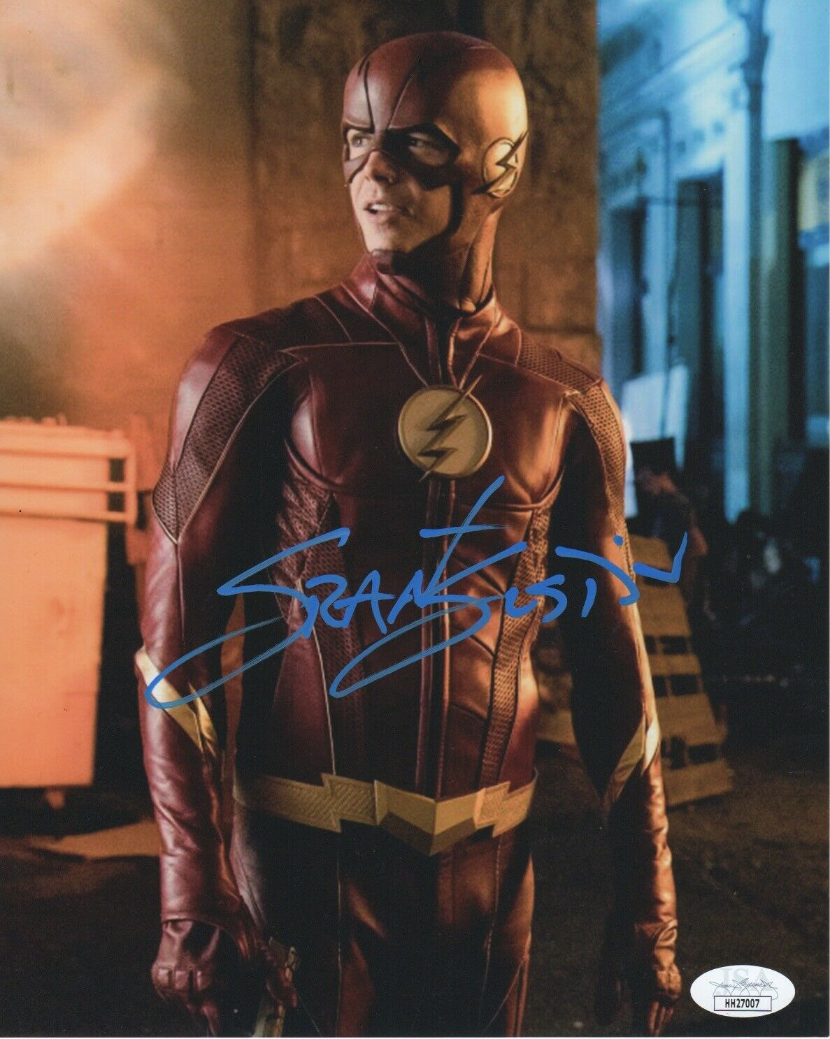 Grant Gustin The Flash Signed Autograph 8x10 Photo JSA - Outlaw Hobbies Authentic Autographs