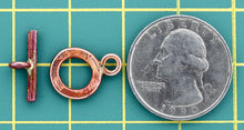 Smallest Hammered Toggle Clasp
