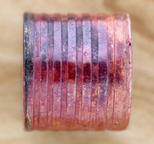Large Rustic Barrel Bead