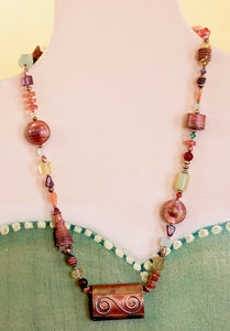 "Art Deco ""Crazy Quilt"" Necklace"