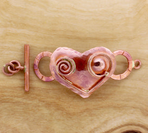 Art Deco Heart Toggle