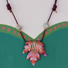 Maple Leaf with Tendrils Necklace