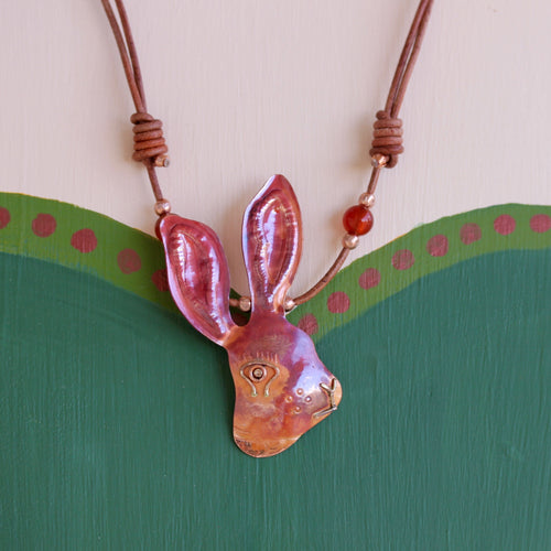 Jackrabbit Profile Necklace