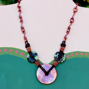 "Rustic Elegance ~ Copper ""Donut"" Necklace"
