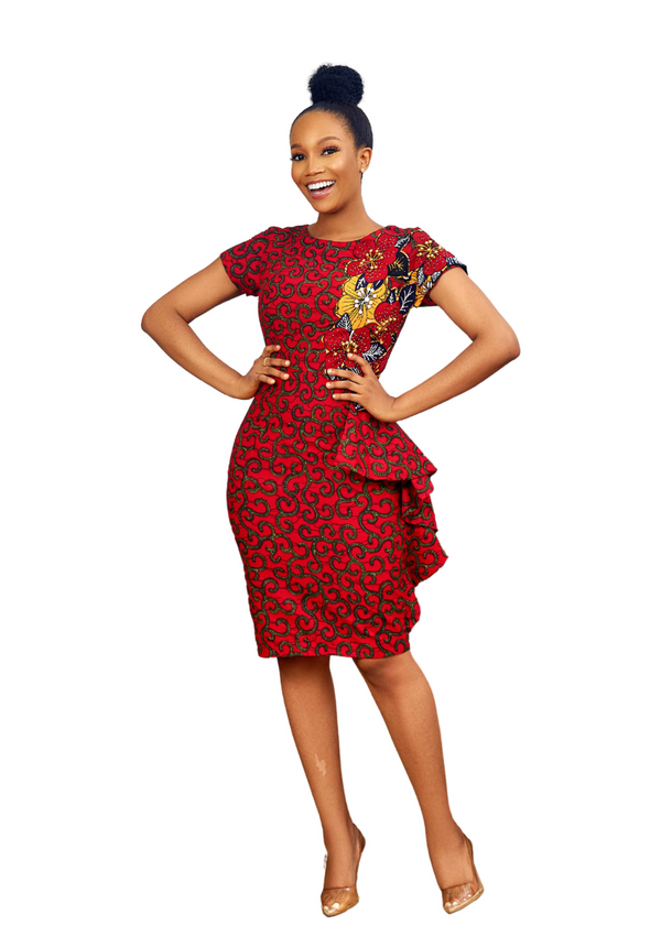 XIKAMA AFRICAN PRINT DRESS