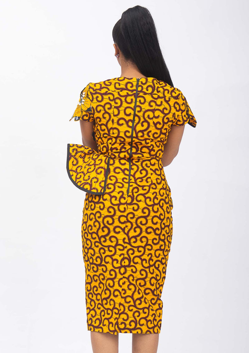 XOLANI AFRICAN PRINT DRESS