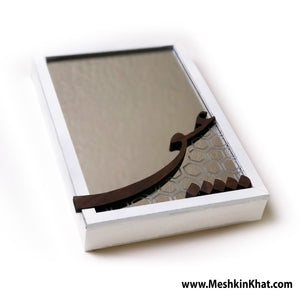 "Love mirror, Persian Shikaste style Ishq ""Eshgh"" word on a framed mirror, great for wall hanging or table top. Persian Farsi Gift"