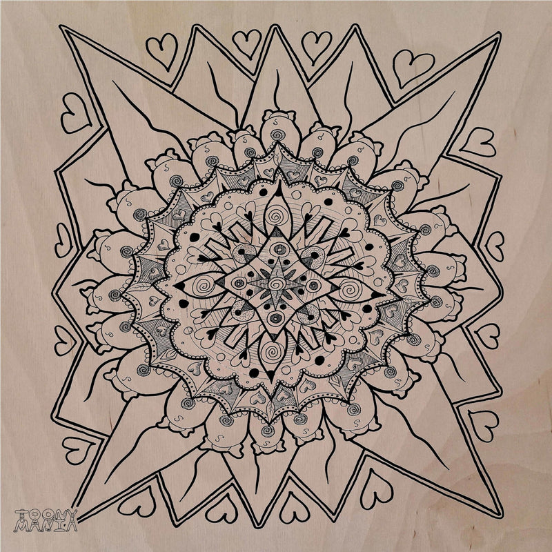 Mandala 3 Wooden Board