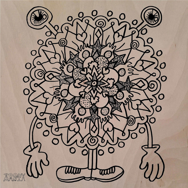 Mandala Monster Wooden Board