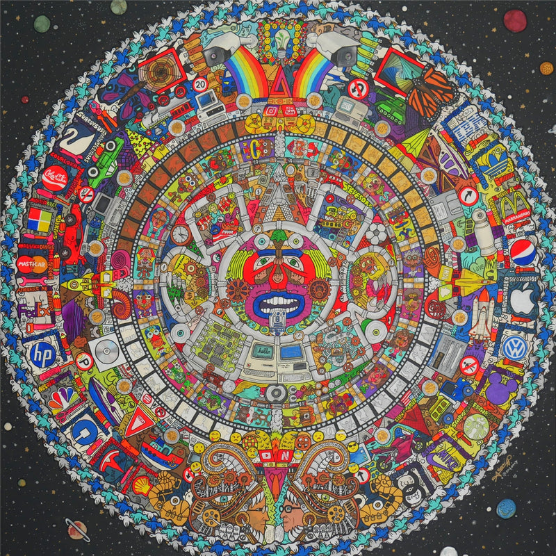 Aztec premonition of technoligical deities - Limited Edition Print