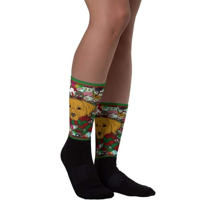 Christmas Exclusive Golden Retriever Socks - We Believe