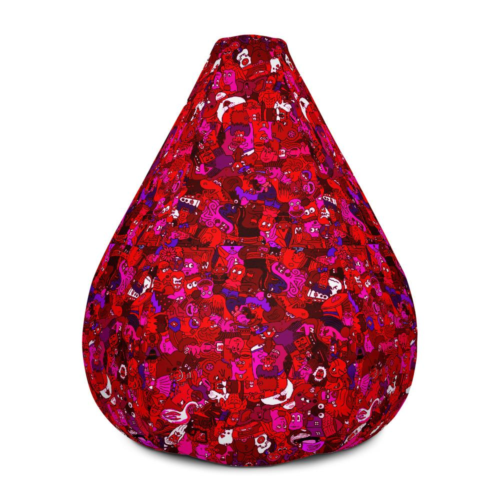 Red Toonymania Bean Bag Chair w/ filling