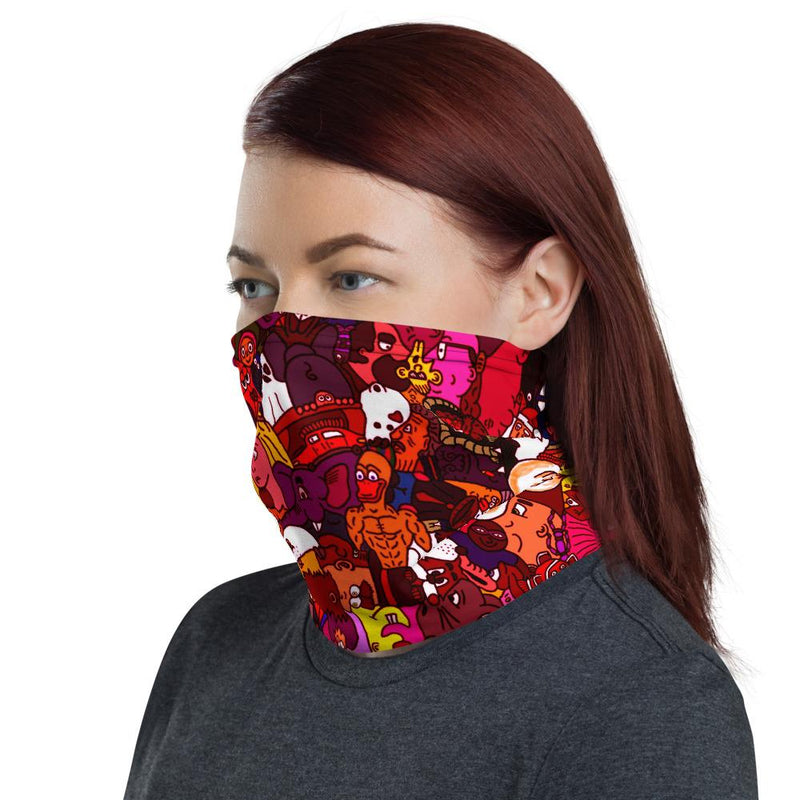Red Toonymania Face Protector/Neck gaiter