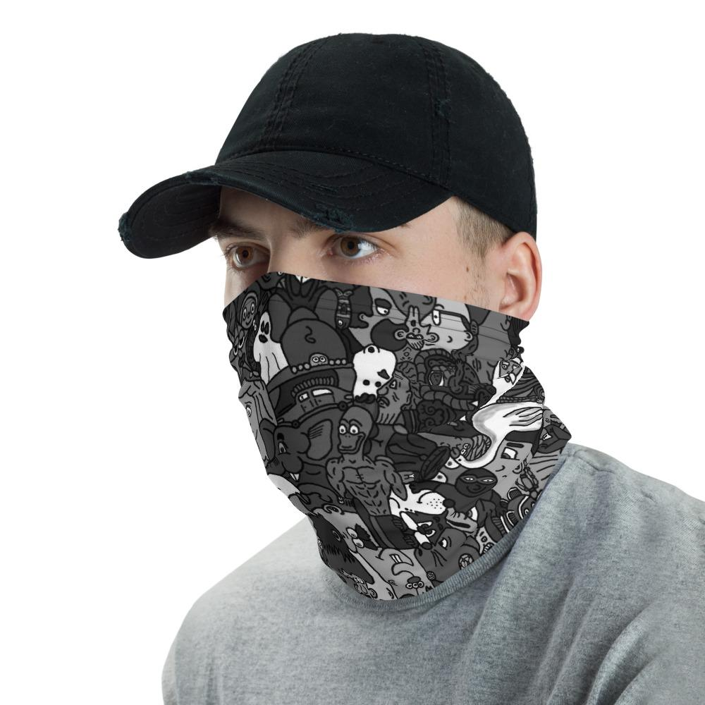 Black and White Neck gaiter