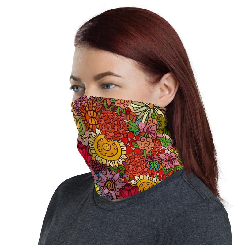 Flowers Face Protector/Neck gaiter