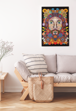 Jesus in Flowers - Limited Edition Print
