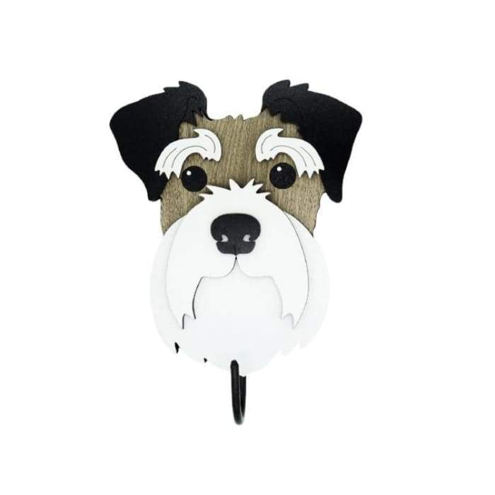Schnauzer Woof Rack/Dog wall Decorations - We Believe