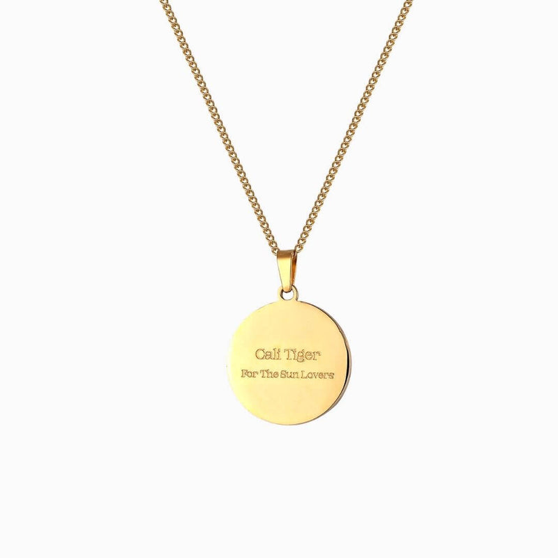 For The Sun Lovers Coin Necklace