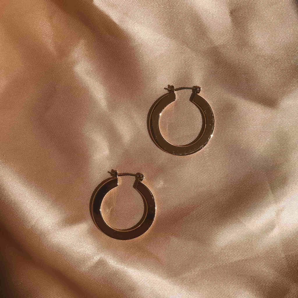18k Gold Plated Cressida Hoops