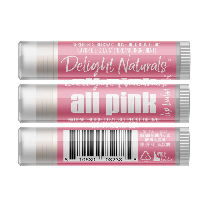 All Pink Lip Balm - Three Pack