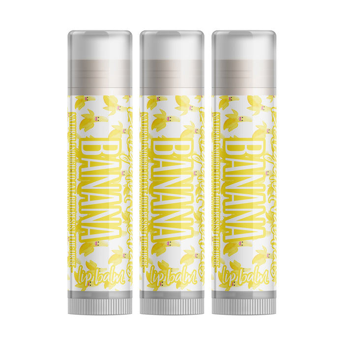 Banana Lip Balm - Set of Three