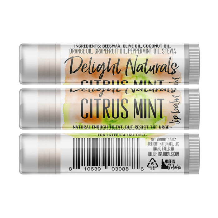 Citrus Mint Lip Balm - Three Pack