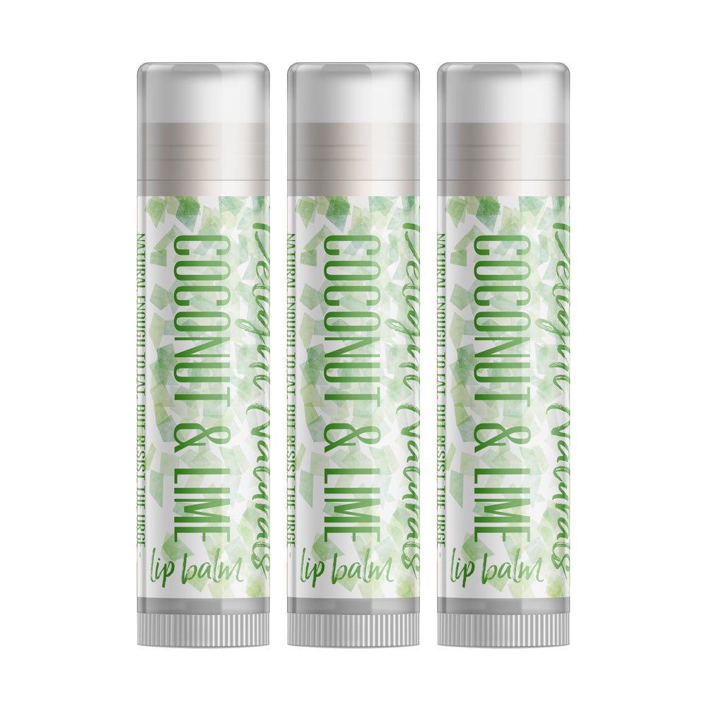 Coconut & Lime Lip Balm - Set of Three