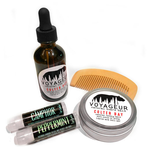 Beard Grooming Set in Colter Bay - Voyageur Grooming - delight-naturals