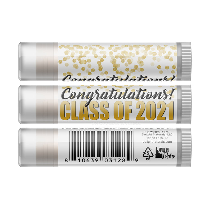 Class of 2021 Graduation Lip Balm - Three Pack