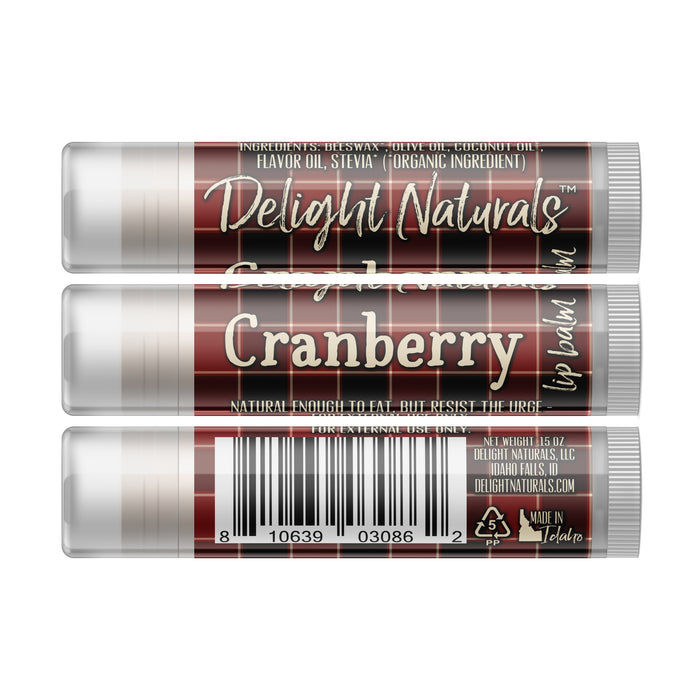 Cranberry Lip Balm - Set of Three - Fall Flannels Limited Edition