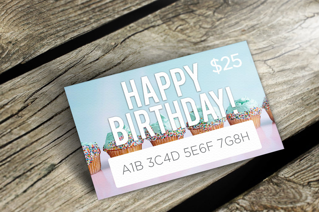 Delight Naturals Happy Birthday Gift Card Version 1 - Delight Naturals