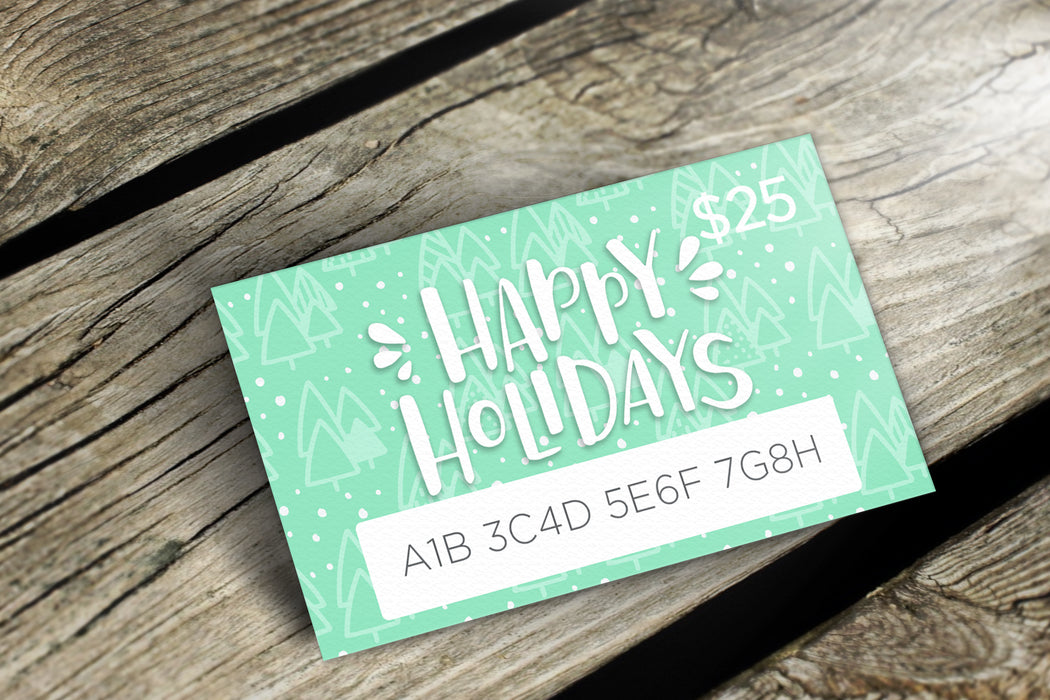 Delight Naturals Happy Holidays Gift Card - Delight Naturals