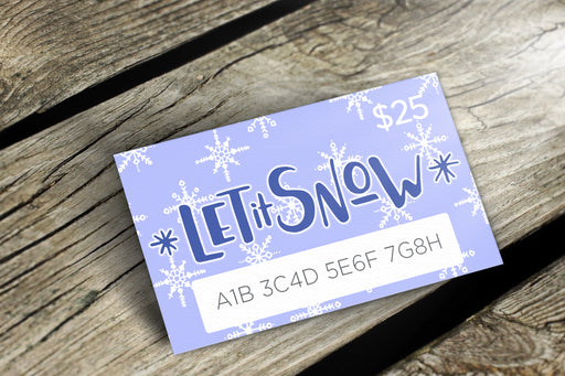 Delight Naturals Let it Snow Gift Card - delight-naturals