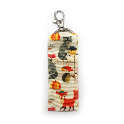 Fall Critters Lip Balm Key Chain