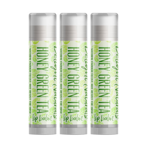 Honey Green Tea Lip Balm - Three Pack - delight-naturals