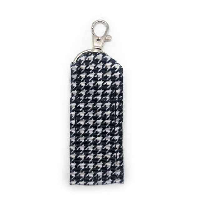 Houndstooth Lip Balm Key Chain