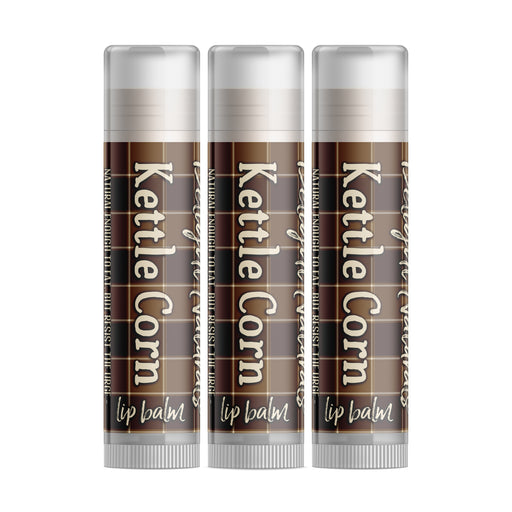 Kettle Corn Lip Balm - Set of Three - Fall Flannels Limited Edition